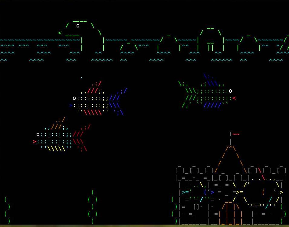 ASCII acquarium