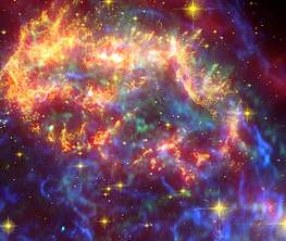 Snippet from a Spitzer image of Cassiopia