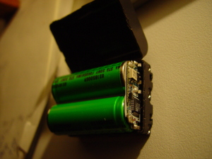 Electronics in NP-FM50 battery from Sony DSC-F707 camera