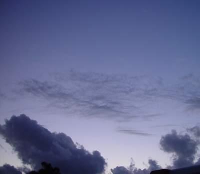 North-western sky from Osborne Park near sunset